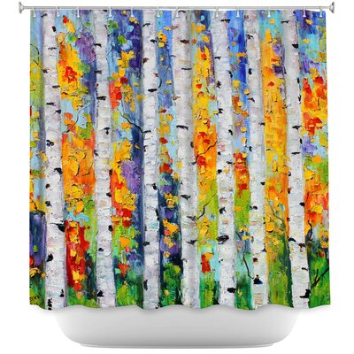 Celentanos Birch Trees Shower Curtain
