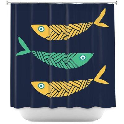Fish Nursery Shower Curtain