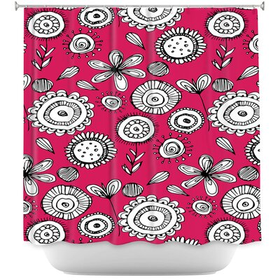 Luby Floral Doodle 1 Shower Curtain