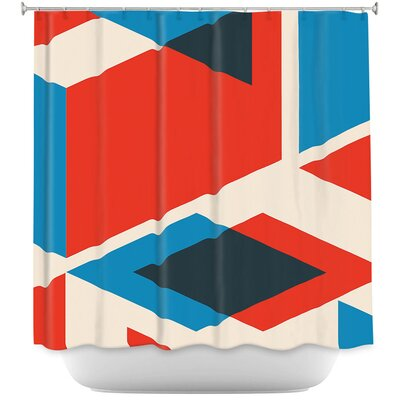 Geo Fragment Shower Curtain