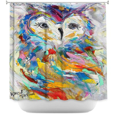 Owl Whimsy Shower Curtain