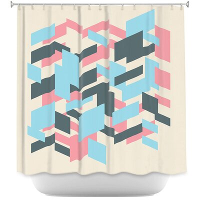 Geo Overlap Shower Curtain