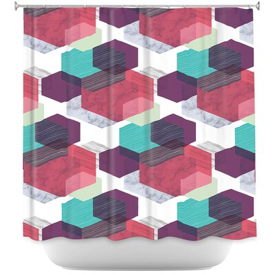Hexgeo 1 Shower Curtain