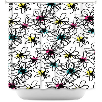 Ink Flower 1 Shower Curtain