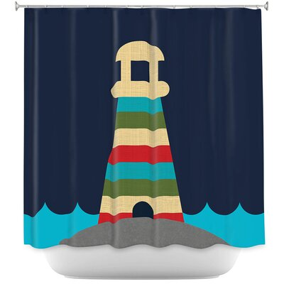 Lighthouse Nursery Shower Curtain