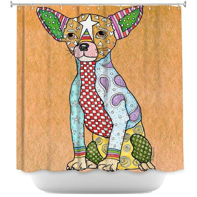 Chihuahua Dog Shower Curtain Color: Brown