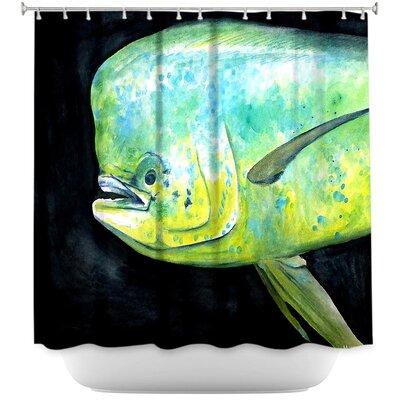 Hulsey Mahi Mahi Fish Shower Curtain