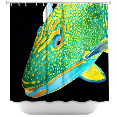 Hulsey Parrot Fish Shower Curtain