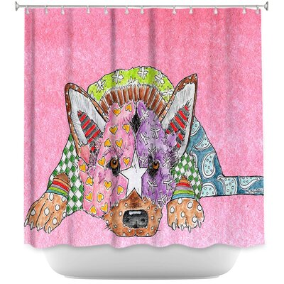 German Shepherd Dog Shower Curtain Color: Pink