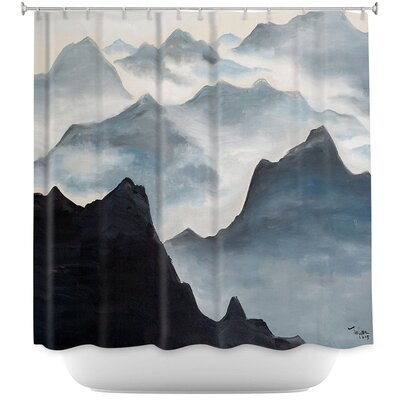 Misty Mountains II Shower Curtain