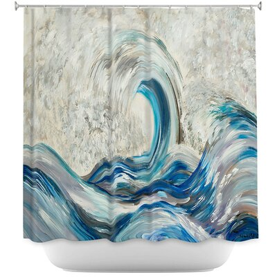 Wave Rolling II Shower Curtain