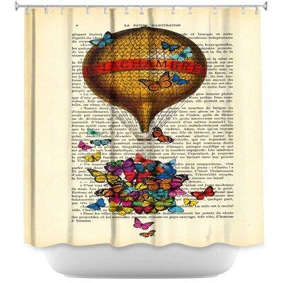 Balloon Butterflies Shower Curtain
