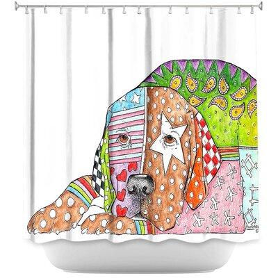 Labrador Retriever Dog Shower Curtain Color: White