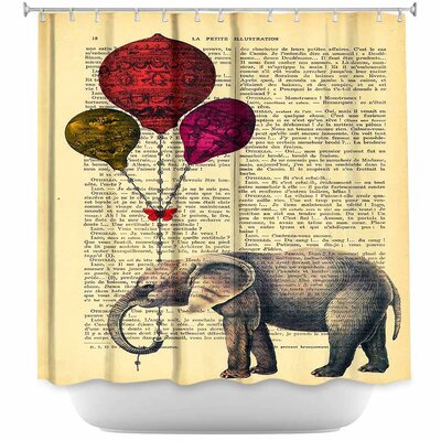 Wiechmann Elephant Balloons Shower Curtain