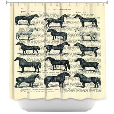 Horse Breeds Shower Curtain