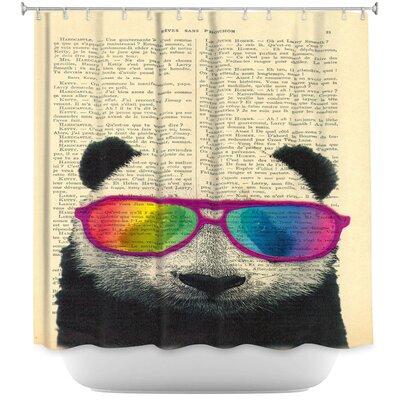 Panda Bear Rainbow Sunglasses Shower Curtain