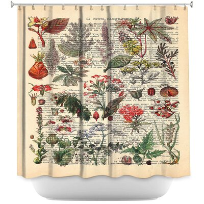Plant Chart Shower Curtain
