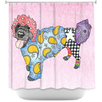 Portuguese Water Dog Shower Curtain Color: Black/White