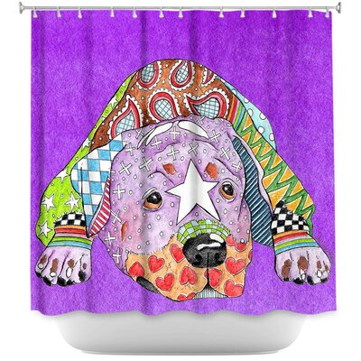 Rottweiler Dog Shower Curtain Color: Purple