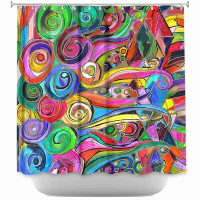 Rainbow Fragment Shower Curtain