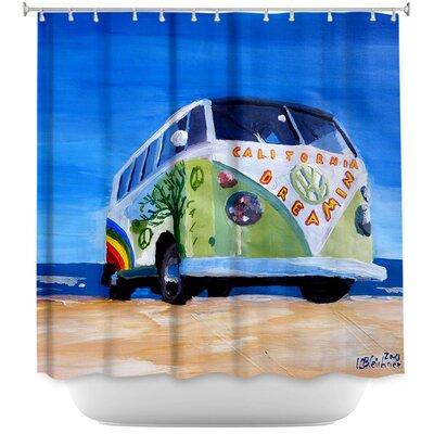California Dreaming VW Bus Shower Curtain