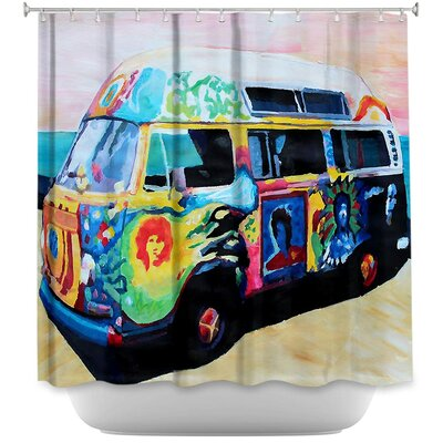 Here Comes the Sun Volkswagon Shower Curtain