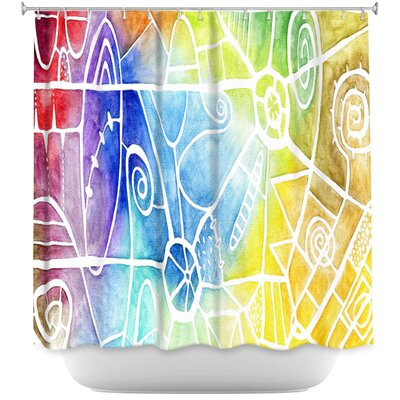 Vibrant Boogie Shower Curtain