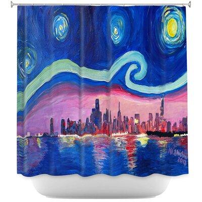 Starry Night Chicago Shower Curtain