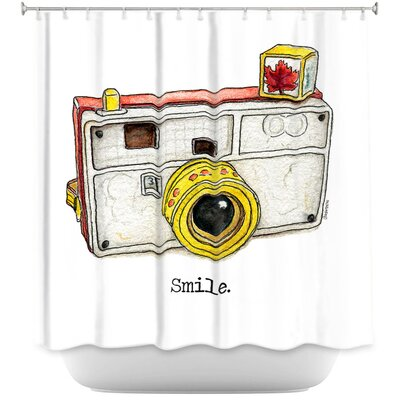 Toys Camera Smile Shower Curtain