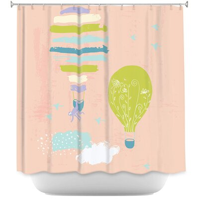 Balloons Clouds Shower Curtain