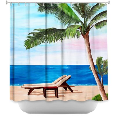 Strand Chairs on Caribbean Shower Curtain