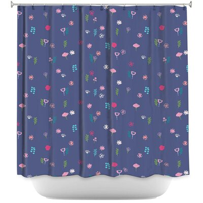 Cats Flowers Shower Curtain