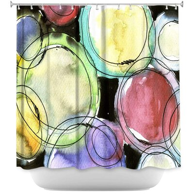 Luevano Artsy Dizzy Spell Shower Curtain
