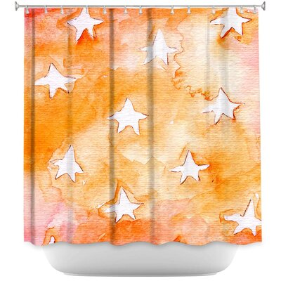 Artsy Stars Shower Curtain Color: Orange