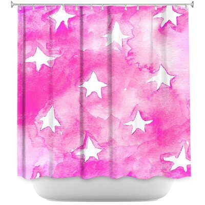Artsy Stars Shower Curtain Color: Pink