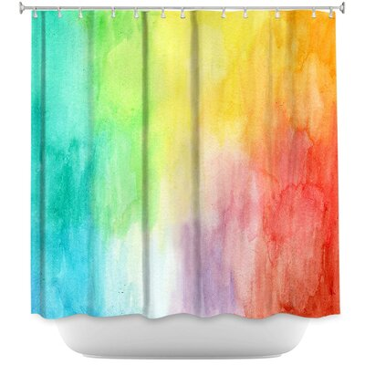 Artsy Rainbow Wash Shower Curtain