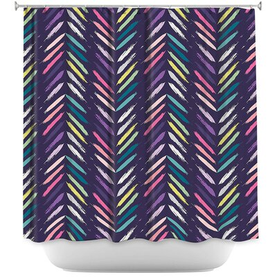 Petrucci Brush Strokes Shower Curtain