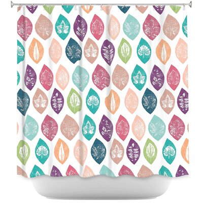 Spring Leafs Shower Curtain