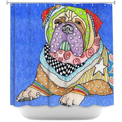 Bull Mastiff Dog Shower Curtain Color: Purple