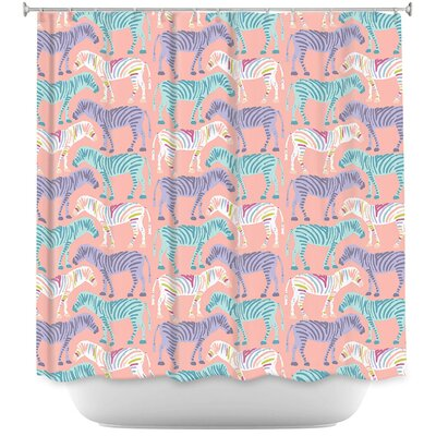 Wiegand Zebras Shower Curtain
