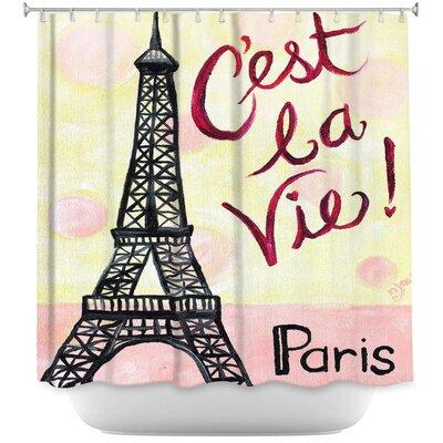 Cest La Vie Shower Curtain