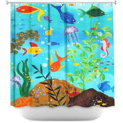 Happy Fish III Shower Curtain