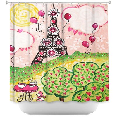 Paris in Shower Curtain