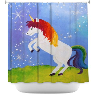 Rainbow Unicorn II Shower Curtain