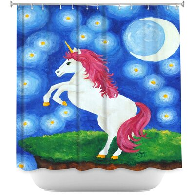 Unicorn Starry Night Shower Curtain