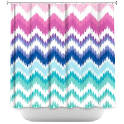 Hanlin Ombre Ikat Chevron Shower Curtain