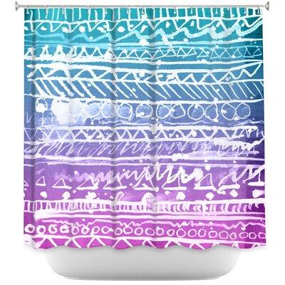 Pastel Ombre Aztec Shower Curtain