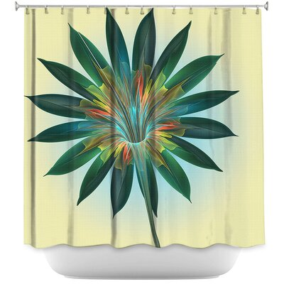Floral Bliss Shower Curtain Color: Yellow/Green