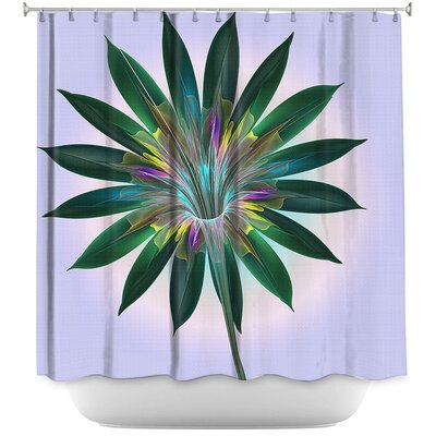 Floral Bliss Shower Curtain Color: Purple/Green