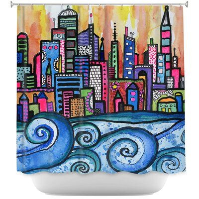 Summer Skyline Shower Curtain